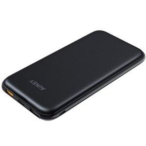 AUKEY 10000mAh 移动充电宝 18W快充 支持PD QC 3.0