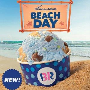 太平洋海盐口味冰淇淋 $3.5上新:Baskin Robbins 七月限定 黑莓木槿、三重芒果冰茶冻
