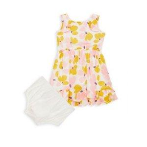 Kate Spade New YorkKate Spade New York Baby Girl's 2-Piece Paint Daub Ruffle Dress & Briefs Set