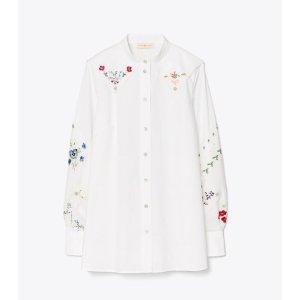 Tory Burch花朵刺绣朵衬衫