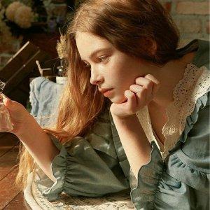 低至5折 蜜桃粉睡衣套装$78ULLALA PAJAMA 复古少女风睡衣热卖 油画感设计 碎花、蕾丝元素