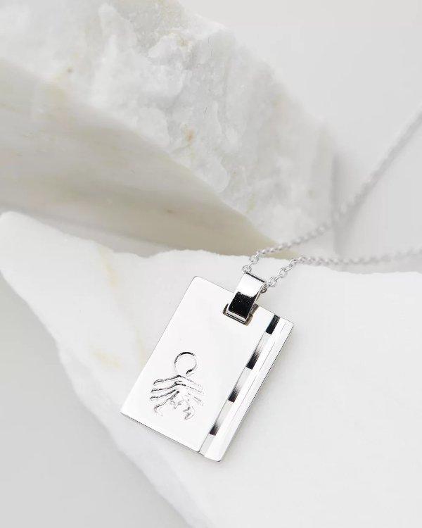 925银 天蝎座项链