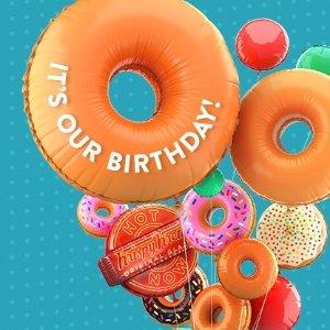 Coming Soon: $1 Original Glazed DozenKrispy Kreme Birthday Celebration Pirchase Any Dozen
