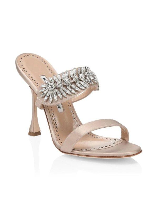 钻链穆勒鞋