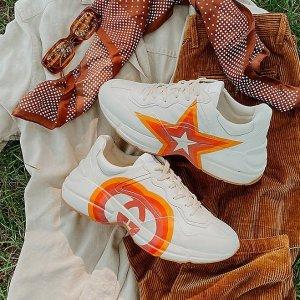 无门槛8折 £378收Gucci蜜蜂小白鞋Suitnegozi 鞋子惊喜大促 Gucci、巴黎世家、BV、YSL都在线
