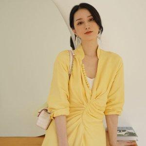 低至3折 $193收连衣裙夏日必败:Sandro 精致美衣 $220收封面同款连衣裙