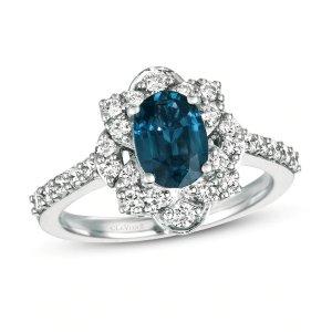 Le Vian Natural Sapphire Ring 5/8 ct tw Diamonds Platinum|Jared