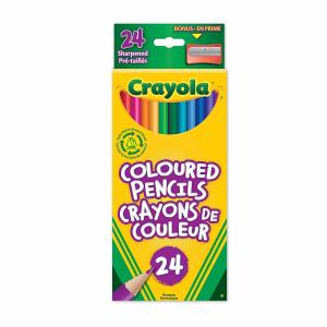 $1.87(原价$5.99)凑单佳品! Crayola 24色绘图铅笔