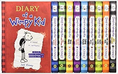 Diary of a Wimpy Kid 小屁孩日记1-10本,在捧腹大笑中培养阅读