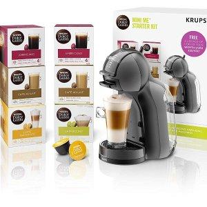 仅£49.99,含6盒多口味咖啡胶囊史低价:Nescafé Dolce Gusto KP120841胶囊咖啡机套装