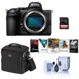 Nikon Z5 Mirrorless Camera Body Bundle with 32GB SD Card, Bag, PC Software & Acc