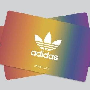 PayPal官网 adidas礼卡促销 每人限2张
