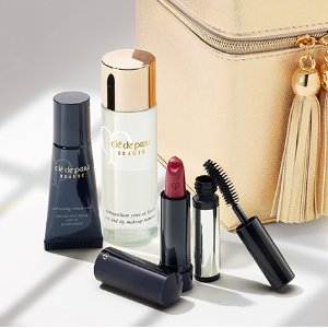Receive your complimentary makeup travel bonuswith any purchase of $250 or more @Cle de Peau Beaute