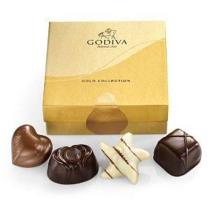 Godiva经典金装松露礼盒4枚装