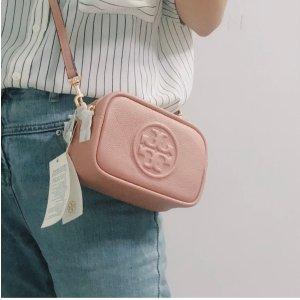 Tory Burch粉色mini相机包