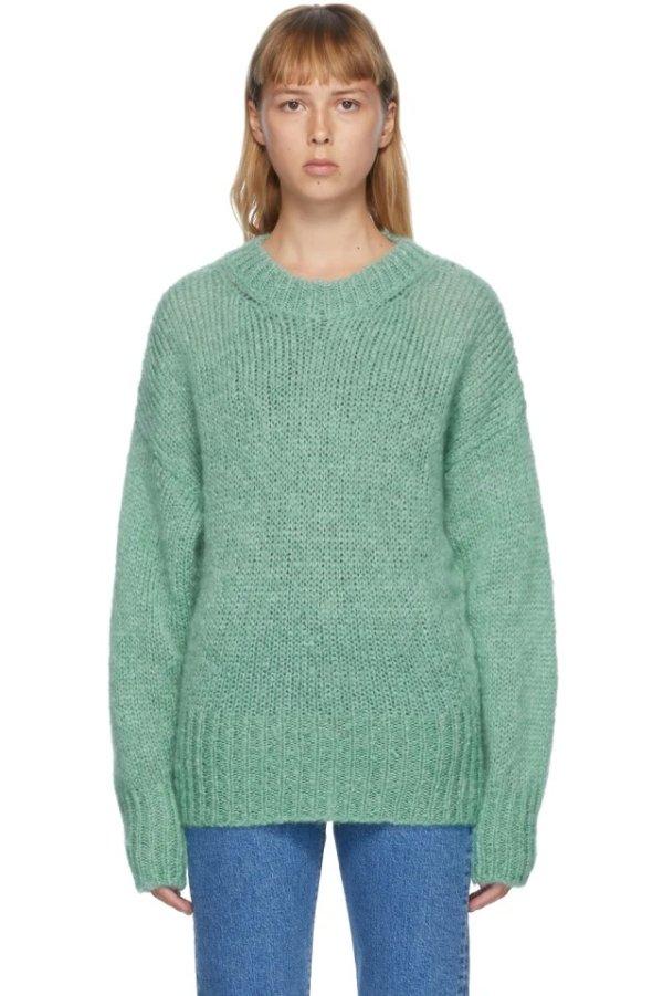 Green Mohair Estelle Sweater
