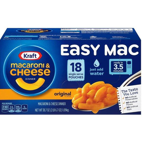 卡夫 Easy Mac 奶酪通心粉原味晚餐杯 18个独立包装