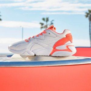 全场75折或满额65折 码数全Puma Pantone联名款 珊瑚橘女款老爹鞋 轻便防滑减震耐磨