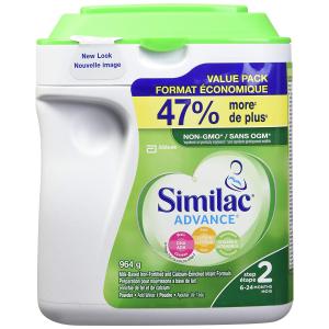 $37.02(原价$43.98)雅培 Similac advance step 2 不含转基因原料配方奶粉大罐装,964 g