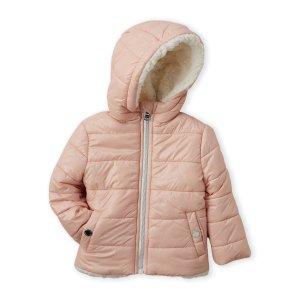 MICHAEL MICHAEL KORS(Infant Girls) Blush Faux Sherpa-Lined Midweight Jacket
