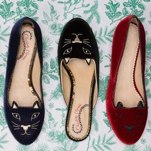 低至3折 猫咪鞋仅£85!折扣升级:Charlotte Olympia 超强降价 可爱简约猫咪鞋 网红乐福别错过
