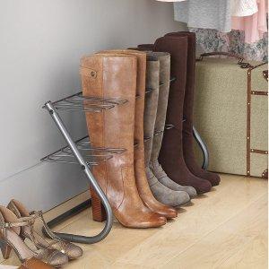 Whitmor 4-Pair Boot Stand Gunmetal