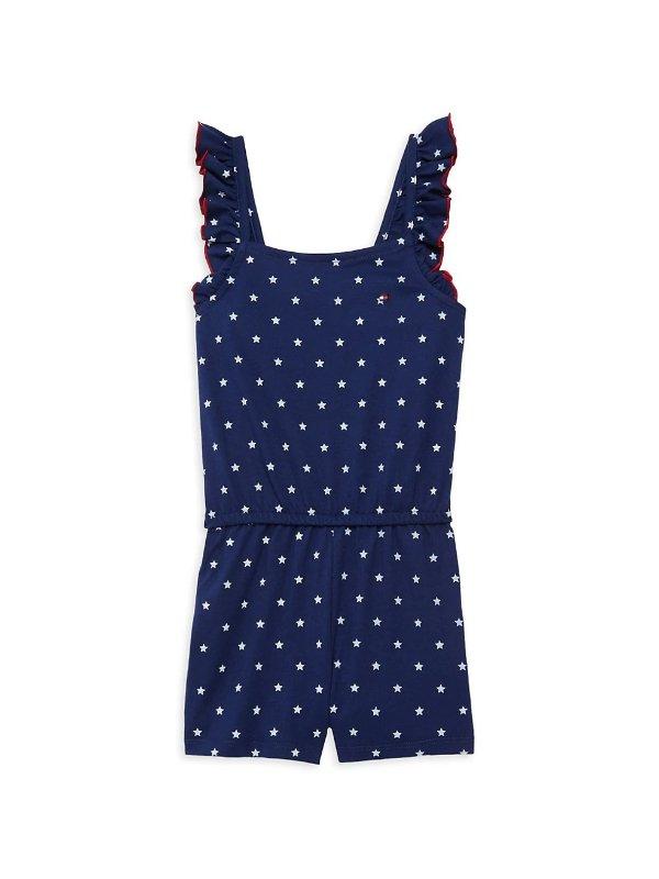 女童连体服,尺码:4-6X