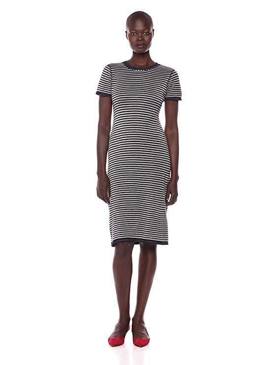 条纹迷笛裙