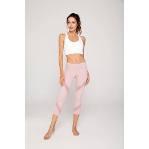 ZEN ZEN STUDIOPastel Pink 3/4-length Capri Workout Leggings