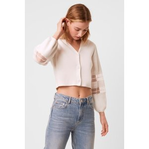 French ConnectionKAYA LACE CROPPED CARDIGAN