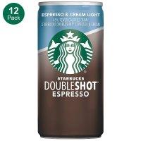 Starbucks Doubleshot 星倍醇浓缩+低卡奶油咖啡 12罐