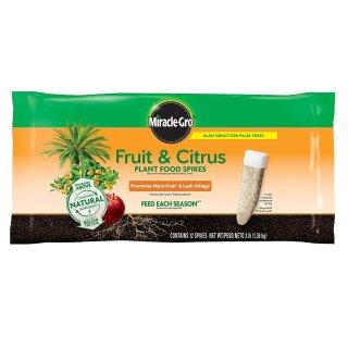 $5.98闪购:Miracle-Gro 水果与柑橘类化肥棒,12根