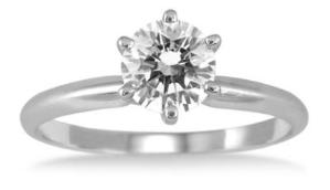 $5473/4 CARAT DIAMOND SOLITAIRE RING IN 14K WHITE GOLD @ Szul.com