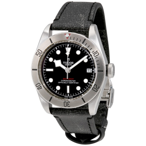 EXTRA $180 OFFTUDOR Heritage Black Bay Chronometer Automatic Men's Leather Watch M79730-0003