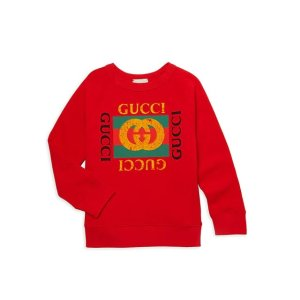 Gucci不参加送礼卡活动儿童卫衣,尺码:8