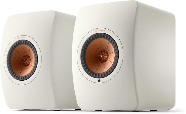 KEF LS50 Wireless II (Mineral White) Powered stereo speakers with Wi-Fi®, Bluetooth®, and Apple AirPlay® 2 at Crutchfield