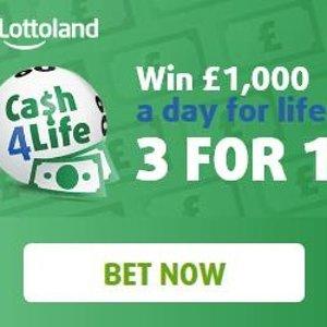 奖金为每天获得1000欧Lottoland Cash4Life 德国彩票 终身现金奖来袭 获奖几率好