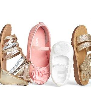 全场免邮 宝宝鞋$7.5 果冻鞋$9限今天:Carter's官网 春夏儿童鞋履5折+满额7.5折热卖