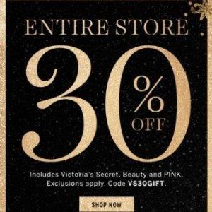 全场7折  满额送好礼最后一天:Victoria's Secret 官网精选内衣裤、睡衣等限时大促热卖