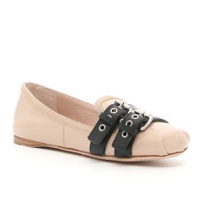 Miu MiuBest price on the market: Miu Miu Patent And Leather Slippers With Ribbons