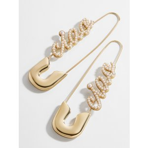 BaubleBarx Montserrat Safety Pin Earrings