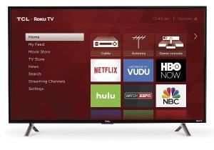 $194TCL 40S305 40-Inch 1080p Roku Smart LED TV (2017 Model)