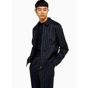 TopmanNavy Formal Herringbone Jacket