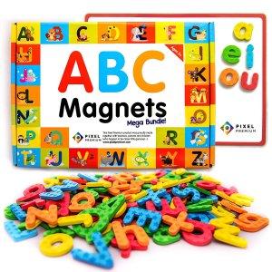 $17.99(原价$34.99)Pixel Premium 儿童趣味ABC字母磁铁套装