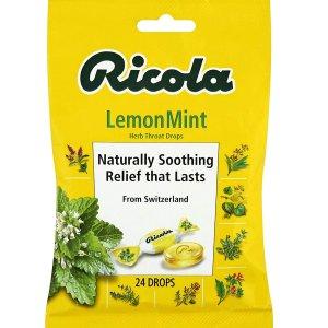 $1.99(原价$3.49)Ricola Herb 柠檬薄荷止咳糖 24颗