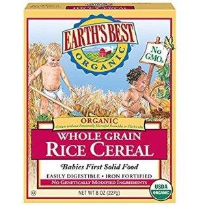 $6.85 平价一盒$0.58Earth's Best 1段有机全麦米粉 8盎司 12盒