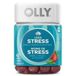 Olly减压必备草莓味马鞭草 减压软糖