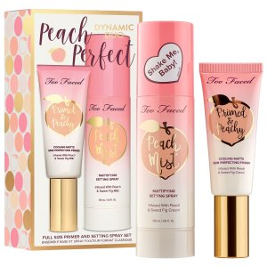 $52,送Fenty Beauty中样上新:Too Faced 桃子隔离+定妆喷雾两件套装