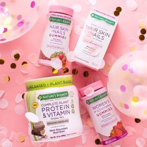 Buy 1 Get 1 Free + $19 Off $88 Nature's Bounty Vitamins Supplements @Walgreens