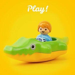 低至7.5折playmobil 德国儿童拼装玩具 专为幼童设计的1.2.3系列